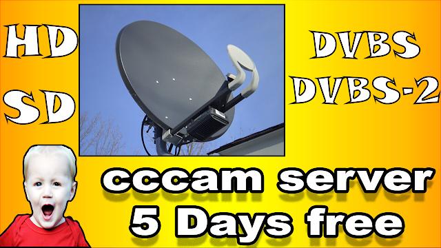 سيرفر سيسكام مجاني لمدة 5 أيام server cccam free 5 days