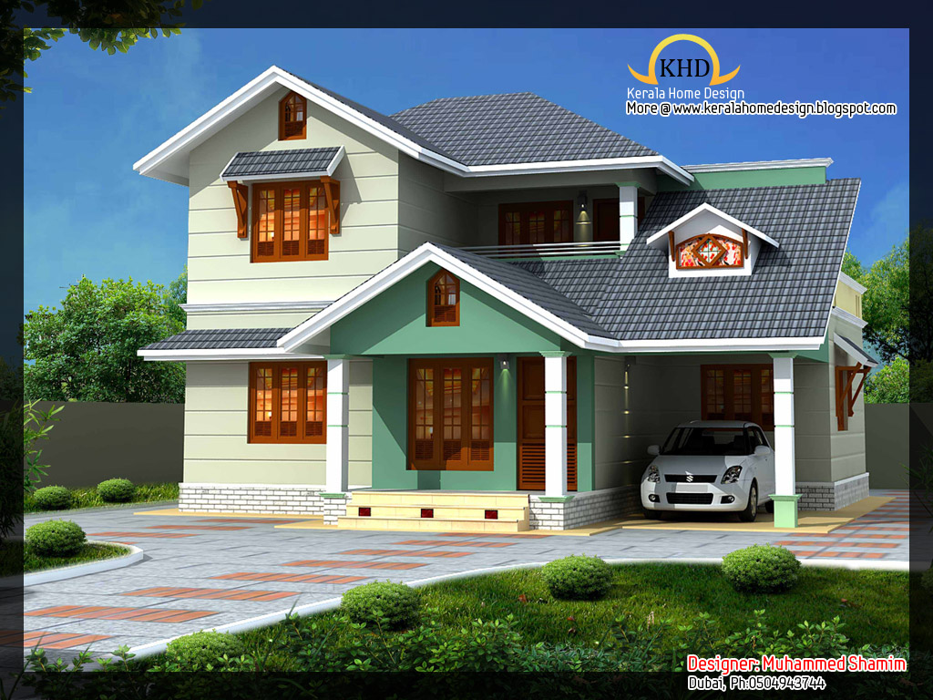 Beautiful 1637 sq ft villa plan and elevation kerala for Villa design plan india