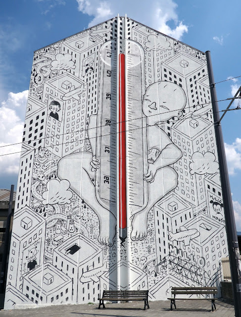 Millo recently spent some time in Avellino, Italy where he was invited to work on a brand new street art mural.