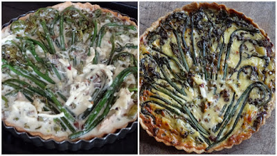 Vegetable fern, salami & capsicum quiche