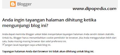 Gambar posting Fitur Preferensi Pelacakan Tayangan Blog Di Blogger.com