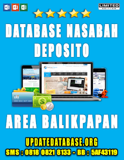 Jual Database Nasabah Deposito Balikpapan