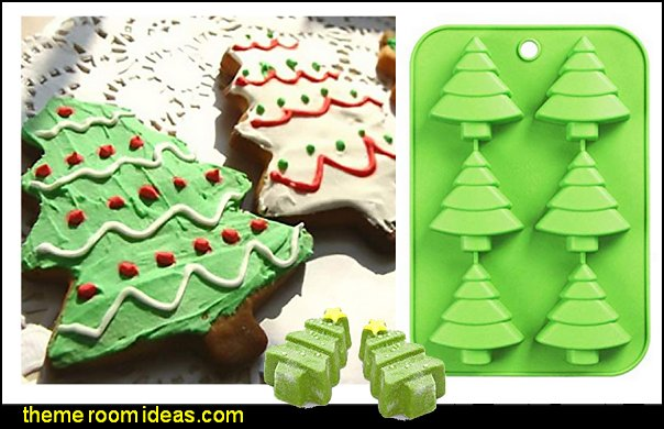 Christmas Tree Silicone Cake Baking Mold Cake Pan Handmade Soap Moulds Biscuit Chocolate Ice Cube Tray