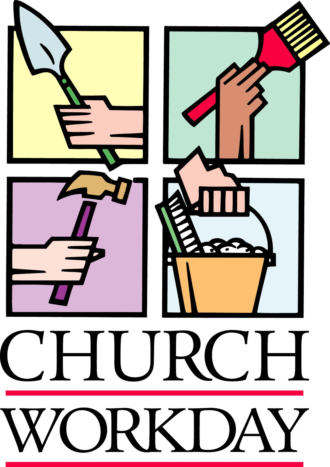 TRUSTWORTHY SAYINGS: Many hands make light work - Church work day ...