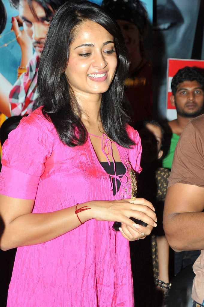 Anushka Shetty Stills in Pink Dress