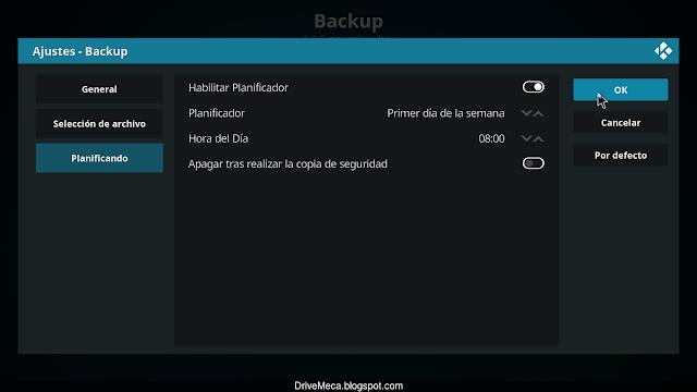 Podemos planificar los backups para que se realicen de forma automatica