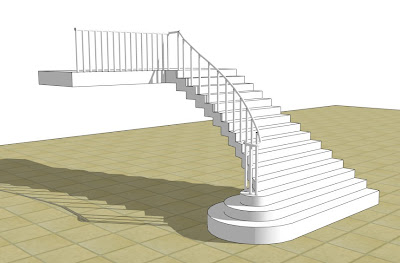DRAWING SPIRAL STAIRS IN SKETCHUP – SPIRAL STAIRS