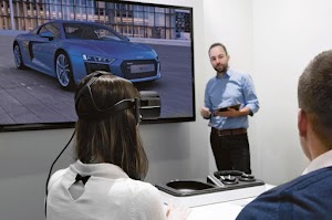 virtual reality mencoba mobil audi dengan 3d vr game virtual life