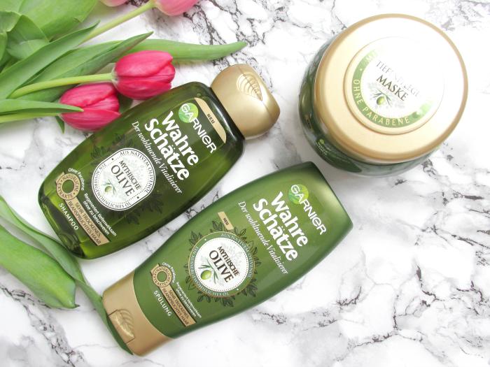 Review: Garnier Wahre Schätze - Mythische Olive  - Shampoo, Spülung, Tiefenpflege Maske
