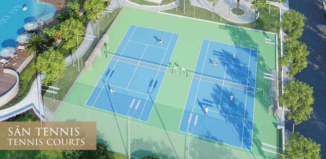 Sân tennis trong khuôn viên dự án Mỹ Đình Pearl