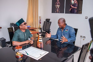RECESSION: Osuofia Visits Ghana President Mahama, Says He Should Be Retained  20024877