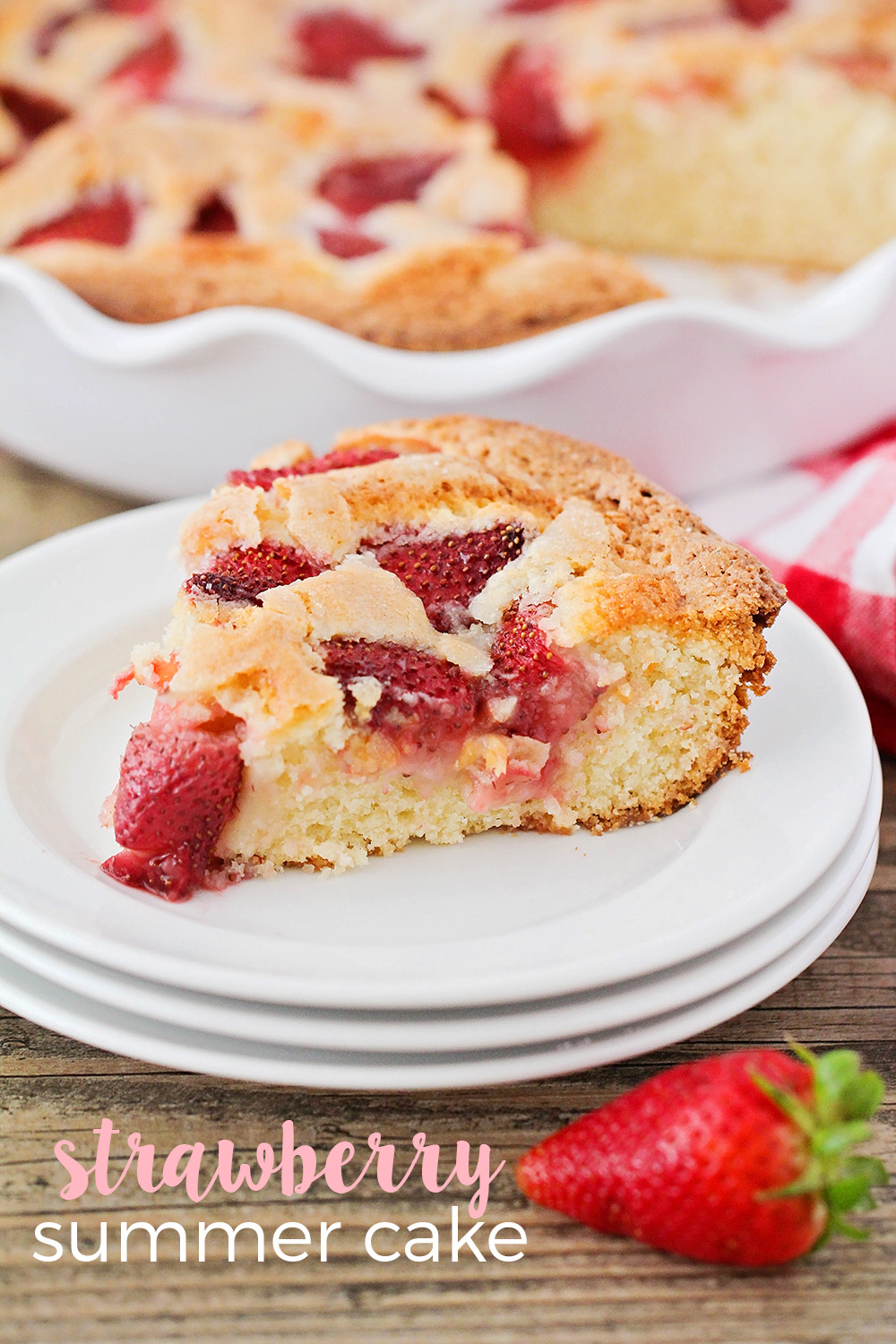 The Baker Upstairs: Strawberry Summer Cake