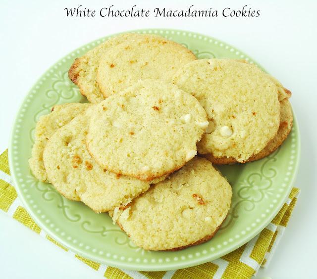 White Chocolate Macadamia Nut Cookies {Gluten-Free, Vegan}