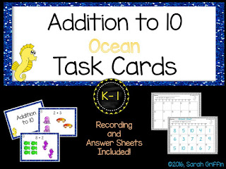https://www.teacherspayteachers.com/Product/Addition-to-10-Ocean-Math-Center-Task-Cards-2641139