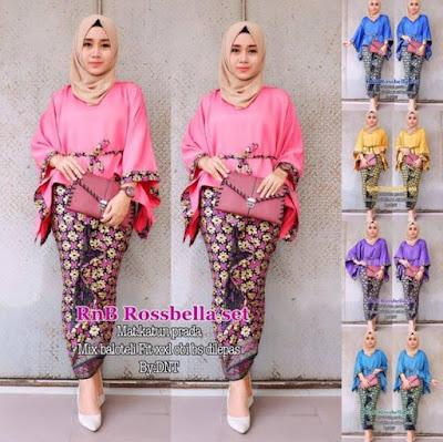 baju pesta batik muslimah