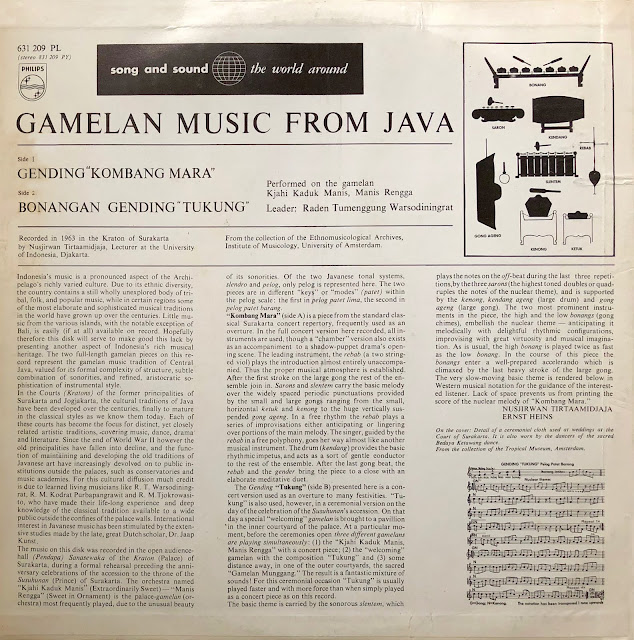 Indonesia Java court music gamelan spacy
