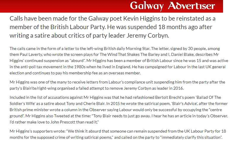 Tony Greenstein S Blog Suspended By Labour For Writing A