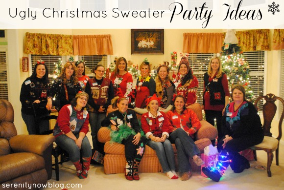 Ugly Christmas Sweater Party Ideas {Girls' Night Out} from Serenity Now