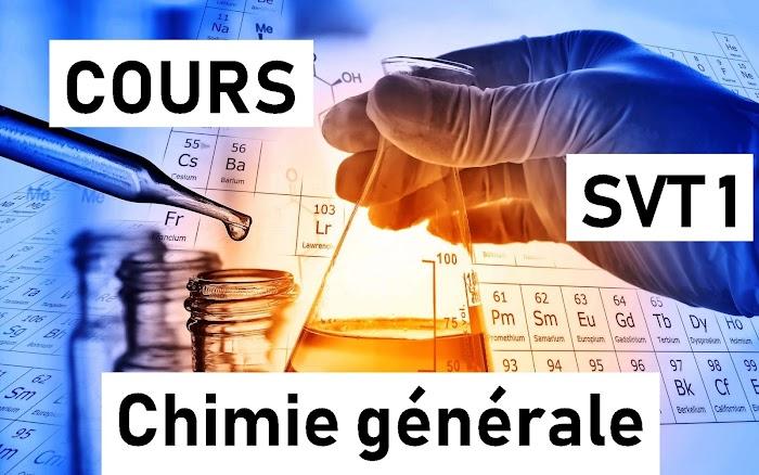 Cour de chimie générale SVT 1 S1 PDF