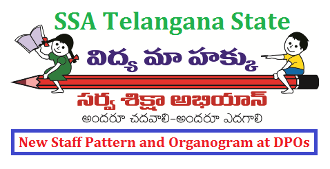 TS SSA Staff Pattern and Structure ( Organogram) at DPOs in Telangana ts-ssa-staff-pattern-and-structure-organogram-tssa-telangana-dpos SSA New Structure and Staff Pattern after Reorganisation of District in Telangana Telangana State Sarva Shiksha Abhiyan Adoption of Staff Staff Pattern in District Project Offices in New Districts under the controll of District Educational Officer of concern Dist. Allotment of staff to TSSA DPOs after reorganaisation of Districts in Telangana ssa-new-structure-and-staff-pattern-districts-re-orgnaisations-telangana
