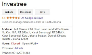 Review-alamat-no Telephone investree.id - Gambar Google review