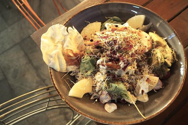 halal shrimp rice bowl santap cafe singapore