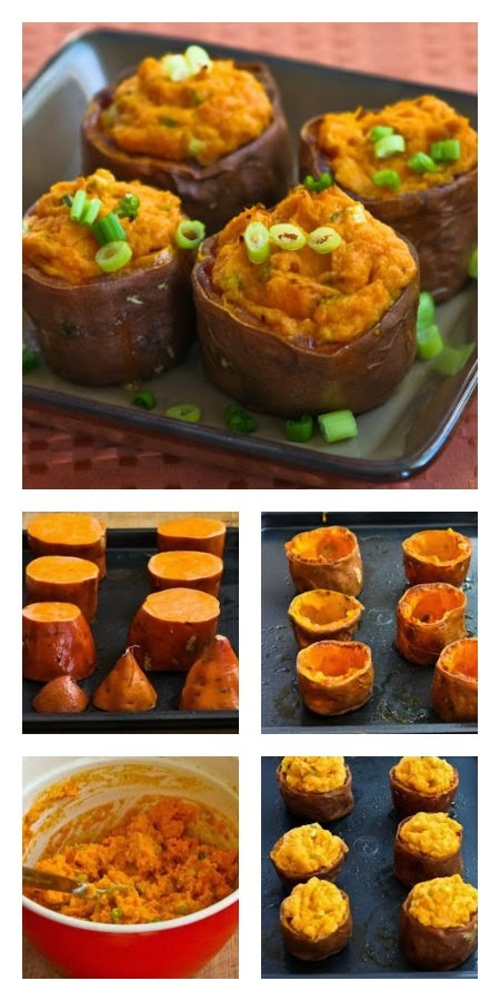 ... for Twice-Baked Sweet Potato Cups with Sour Cream, Chipotle, and Lime