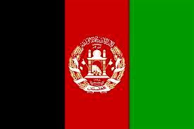 Dibujo de la bandera de Afganistán a colores