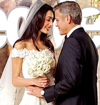 Foto del matrimonio de George Clooney y Amal Ramzi