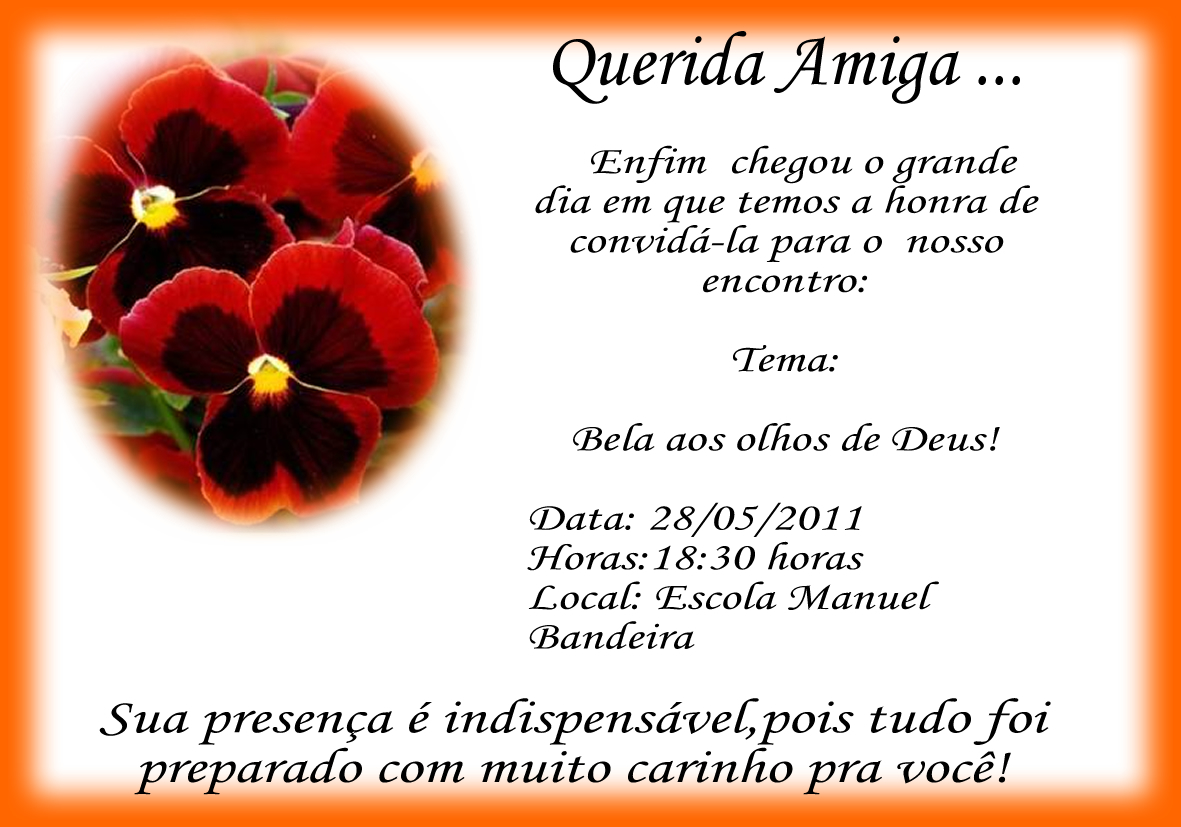 Mensagem Para Uma Amiga: Mundo Das Artes!!!!: CARTÕES DE AMIGA SECRETA DE ORAÇÃO