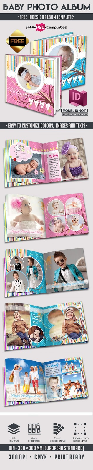Template Album Foto Bayi