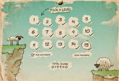 Berbagai pilihan level yang dapat dimainkan kembali ketika menamatkannya