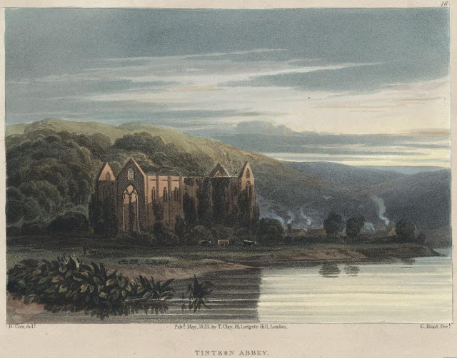 "What is Wordsworth's attitude towards man and nature in "" Tintern Abbey"" ?"