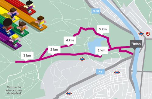 Carrera 6 kilómetros de orgullo en las fiestas del orgullo gay 2012