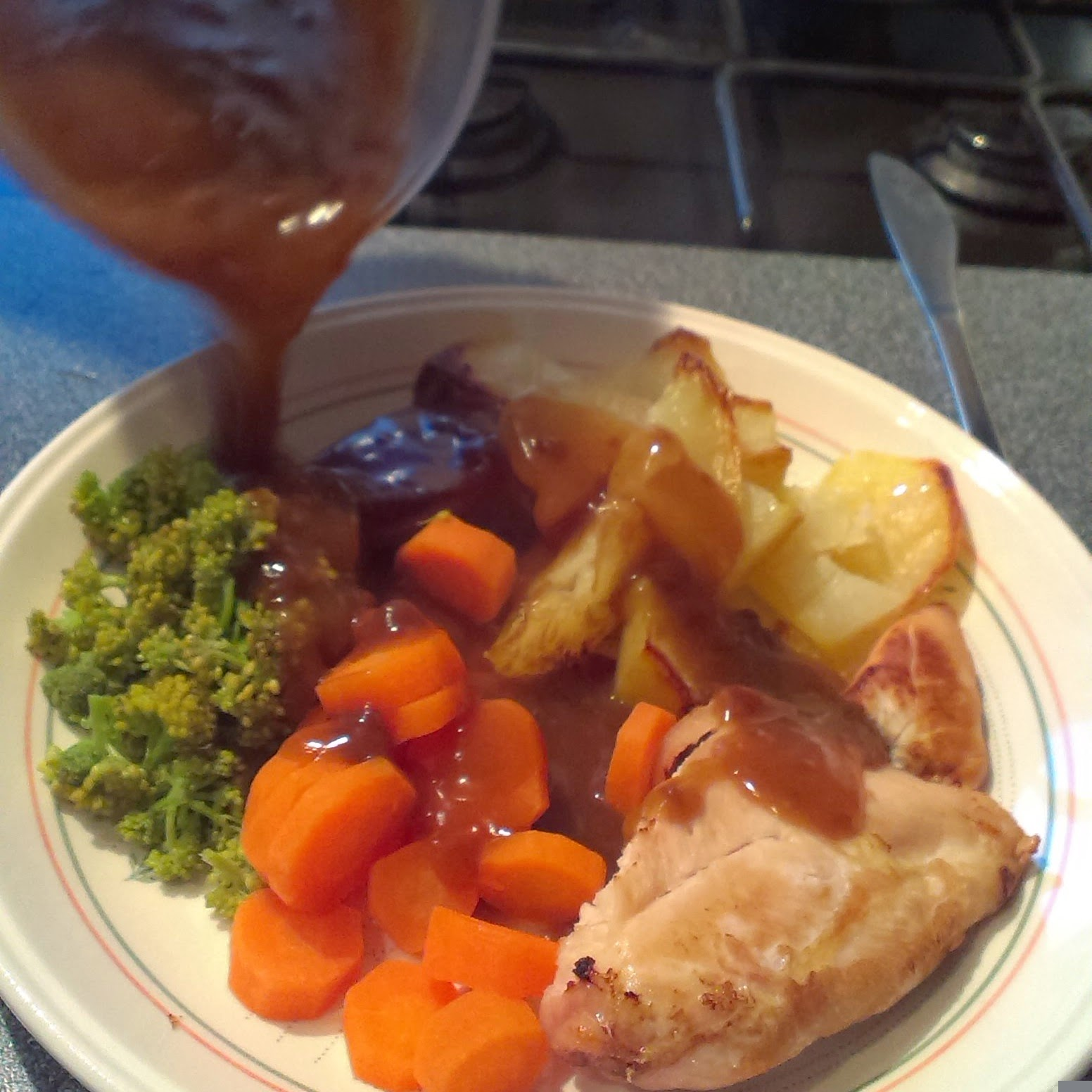 8pm - roast chicken dinner