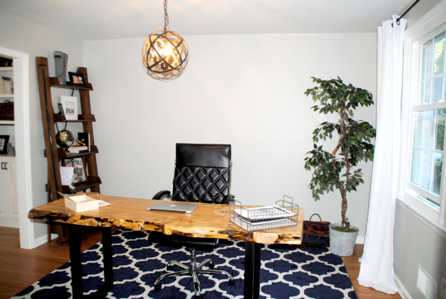 Dark Dining Room To Bright Home Office Makeover Reveal