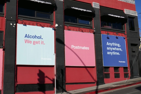 Alcohol Postmates billboards