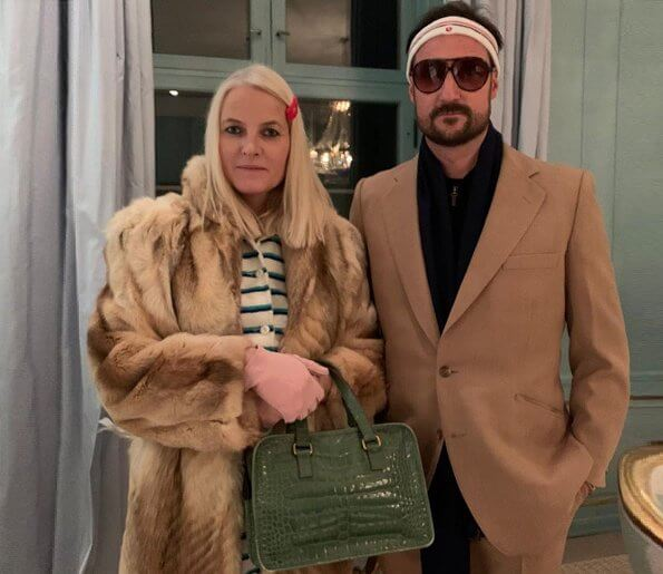 The Crown Prince and Crown Princess wore the costumes of the characters Margot, Gwyneth Paltrow, and Richie Tenenbaum, Luke Wilson