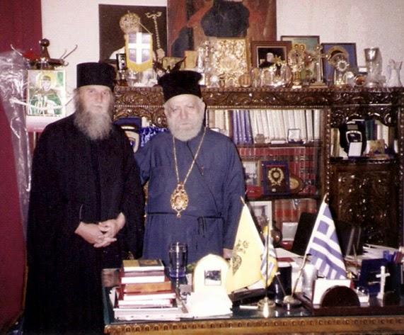 Ο Π.Νεκτάριος με το Μητροπολίτη Χίου, Ψαρών και Οινουσών κ.κ.Διονύσιο