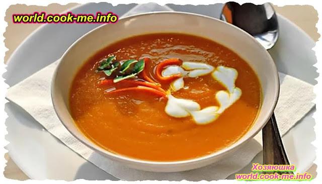Морковный крем-суп на молоке