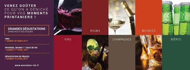agenda degustation monsieur vin