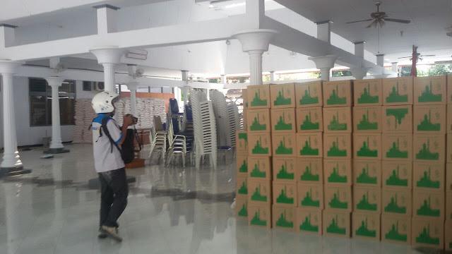 Pemkab Berdalih Paket Sandang Pangan di Pendopo Adalah Cadangan