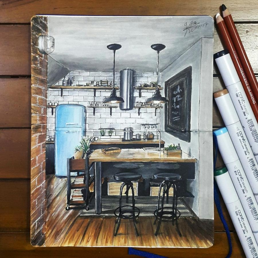 03-Industrial-Style-Kitchen-Glenn-Geraldi-Drawings-of-Architecture-and-Interior-Design-www-designstack-co