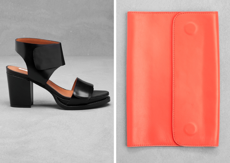 6a576aa7101c Block heel sandals £65   Claire Vivier for   Other Stories Notebook Holder  £29