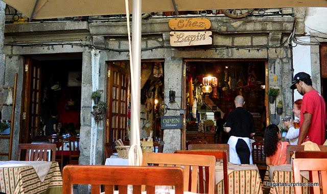 Restaurante Chez Lapin, no Cais da Ribeira, Cidade do Porto
