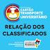 CLASSIFICADOS: Governo do Estado divulga lista de candidatos beneficiados no programa Cartão Transporte Universitário