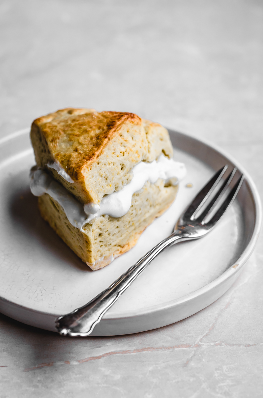 Vegan bergamot scones made with coconut cream and floral citrus. These healthier, rich cream scones can also be made with lemon or orange zest if you can't find bergamot.