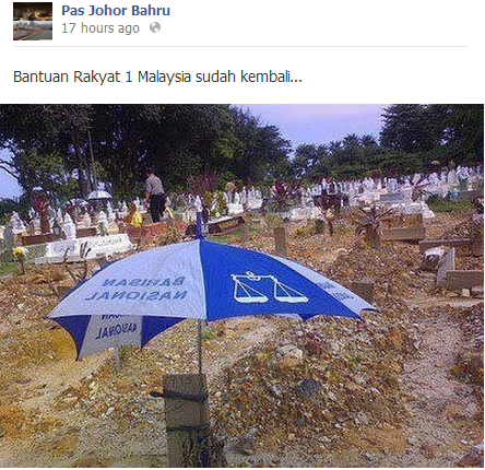 Image result for Payung BN atas kubur