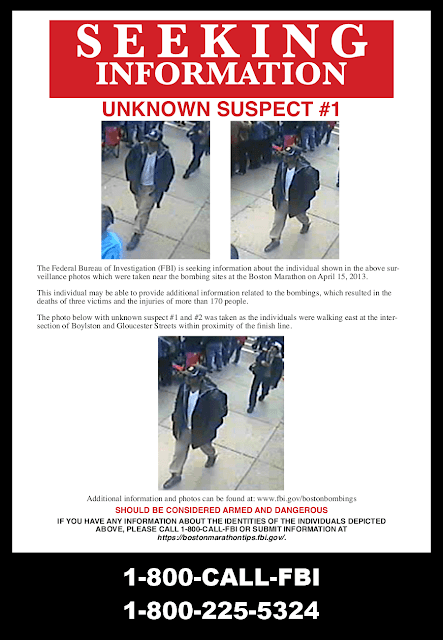 FBI seeking information poster of suspect # 1