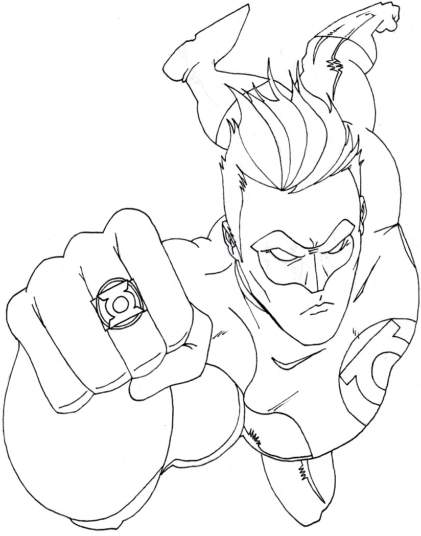 Green Lantern Coloring Pages Free Printable Coloring